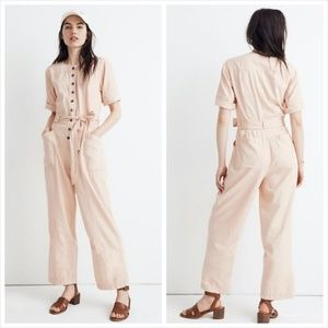 Madewell Top Stitched Coverall Jumpsuit